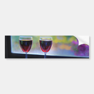 Wine Glass Bumper Sticker