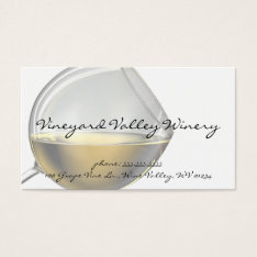 Wine Glass Business Cards at Zazzle