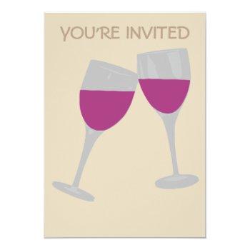 Wine Glass Celebration Wedding Invitation by CREATIVEWEDDING at Zazzle
