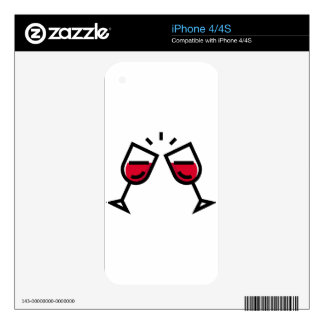 Wine Glass Clink Skin For The iPhone 4
