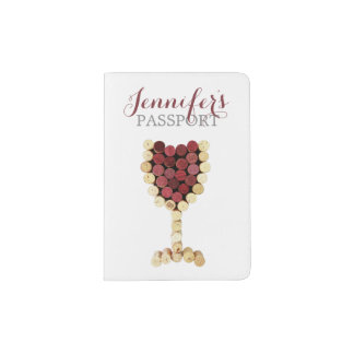 Wine Glass Corks Passport Holder
