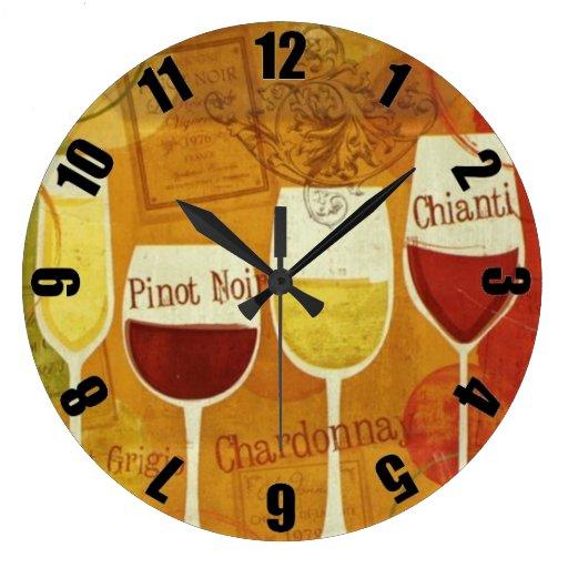 Wine Glass Customized Designer Clock