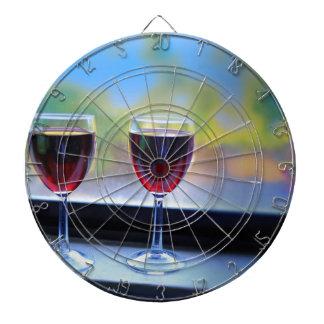 Wine Glass Dart Board