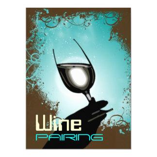 Wine glass elegance card