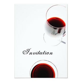 "wine glass invitation 5"" x 7"" invitation card"