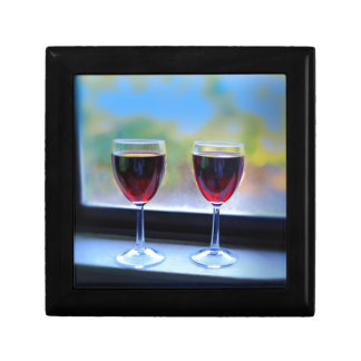 Wine Glass Jewelry Box