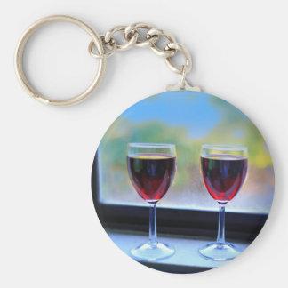 Wine Glass Keychain