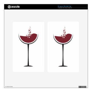 Wine glass kindle fire skin