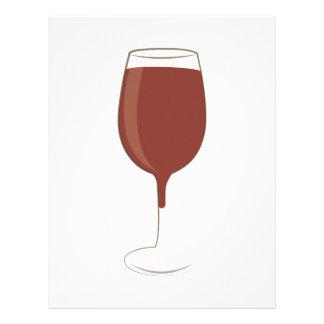 Wine Glass Customized Letterhead