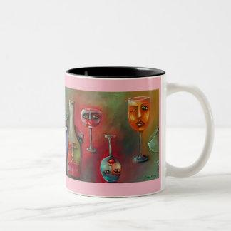Wine Glass on a coffee mug