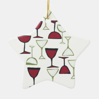 wine glass ornament