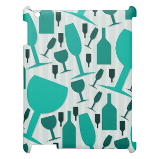 Wine glass pattern cover for the iPad