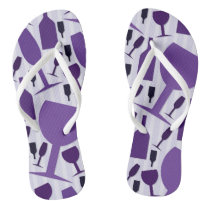 Wine glass pattern flip flops