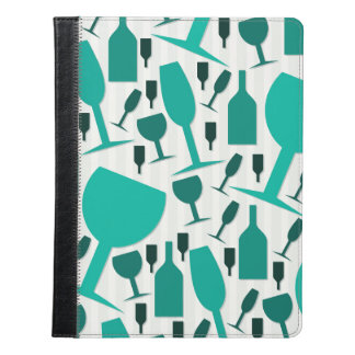 Wine glass pattern iPad case