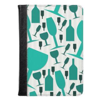 Wine glass pattern kindle case