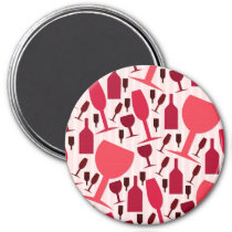 Wine glass pattern magnet