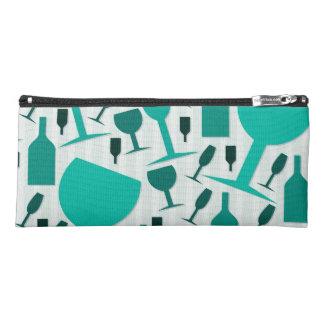 Wine glass pattern pencil case