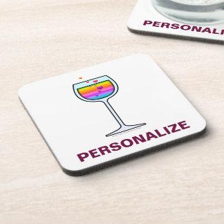 WINE GLASS Personalizable CORK COASTER