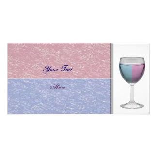 Wine Glass Photo Card