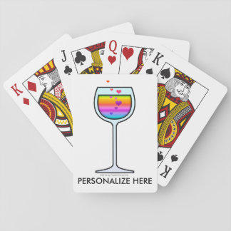 WINE GLASS PLAYING CARDS