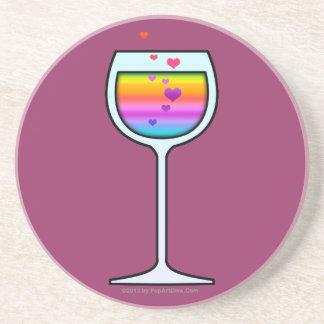 WINE GLASS SANDSTONE COASTER