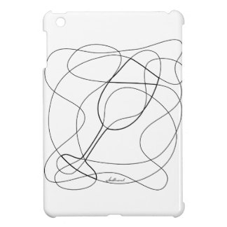 Wine Glass Scribble Art iPad Mini Cases
