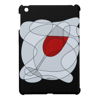 Wine Glass Scribble Art iPad Mini Cover