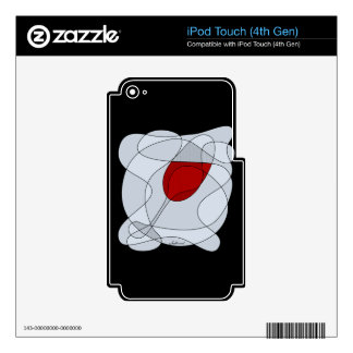 Wine Glass Scribble Art iPod Touch 4G Decal
