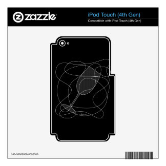 Wine Glass Scribble Art Skin For iPod Touch 4G