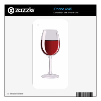 Wine Glass Skin For iPhone 4