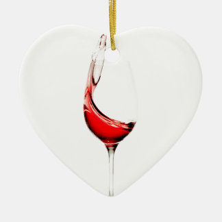wine glass splash ceramic ornament