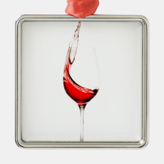 wine glass splash metal ornament