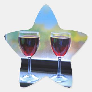 Wine Glass Star Sticker