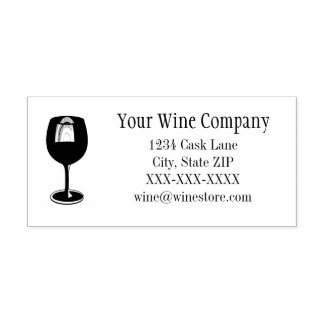 Wine Glass Store Custom Stamp