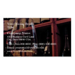 Wine glass with bottles in background Double-Sided standard business cards (Pack of 100)