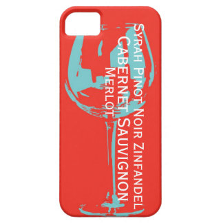 Wine glass with the names of main wine types iPhone SE/5/5s case