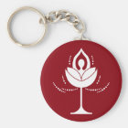 Wine Glass with Yoga Keychain