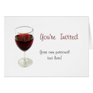wine glass you're invited invitation card