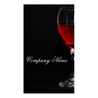 Wine glassbusiness card template