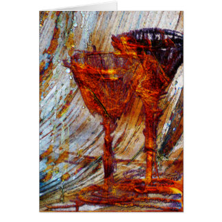 Wine Glasses Abstract Design Texture Card