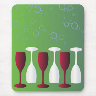 Wine Glasses and Bubbles Mouse Pad