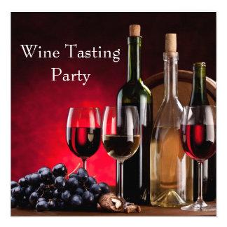 Wine Glasses Bottles Wine Tasting Party Invites
