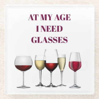 Wine glasses expression glass coaster