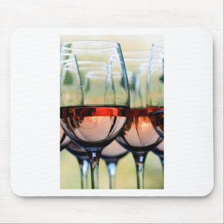 Wine Glasses Filled with Mount Hood Mouse Pad