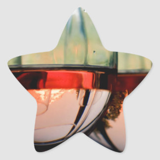 Wine Glasses Filled with Mount Hood Star Sticker