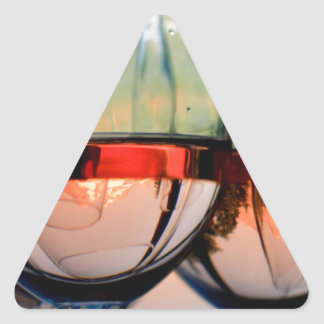 Wine Glasses Filled with Mount Hood Triangle Sticker