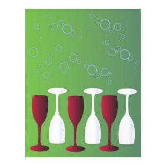 Wine glasses flyer