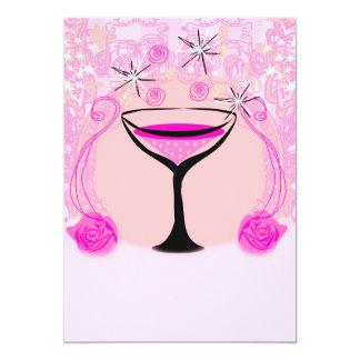 wine glasses pattern Invitation