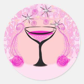 wine glasses pattern Sticker