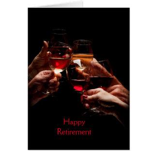 Wine Glasses Retirement Greeting Card